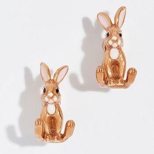 Kate Spade desert muse rabbit ear jacket earrings